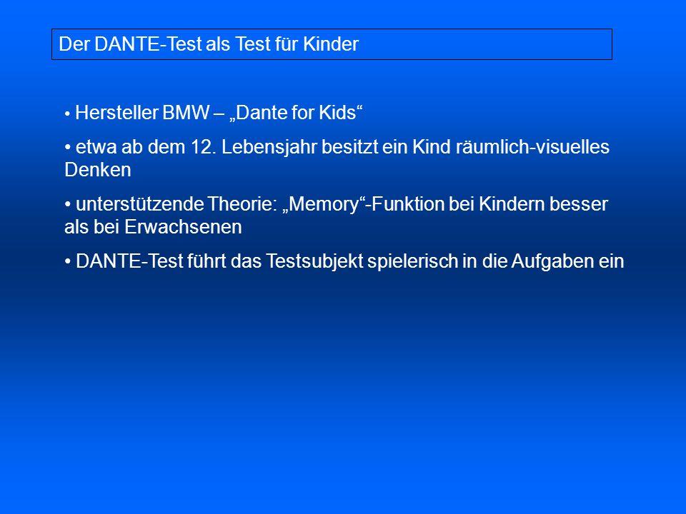 Der DANTE-Test als Test für Kinder