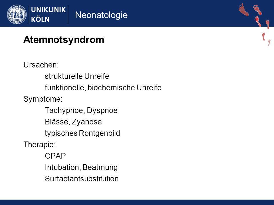 Atemnotsyndrom Ursachen: strukturelle Unreife