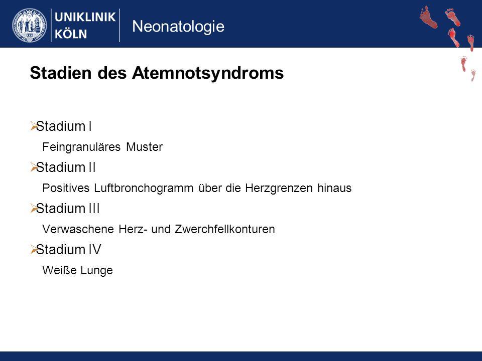 Stadien des Atemnotsyndroms