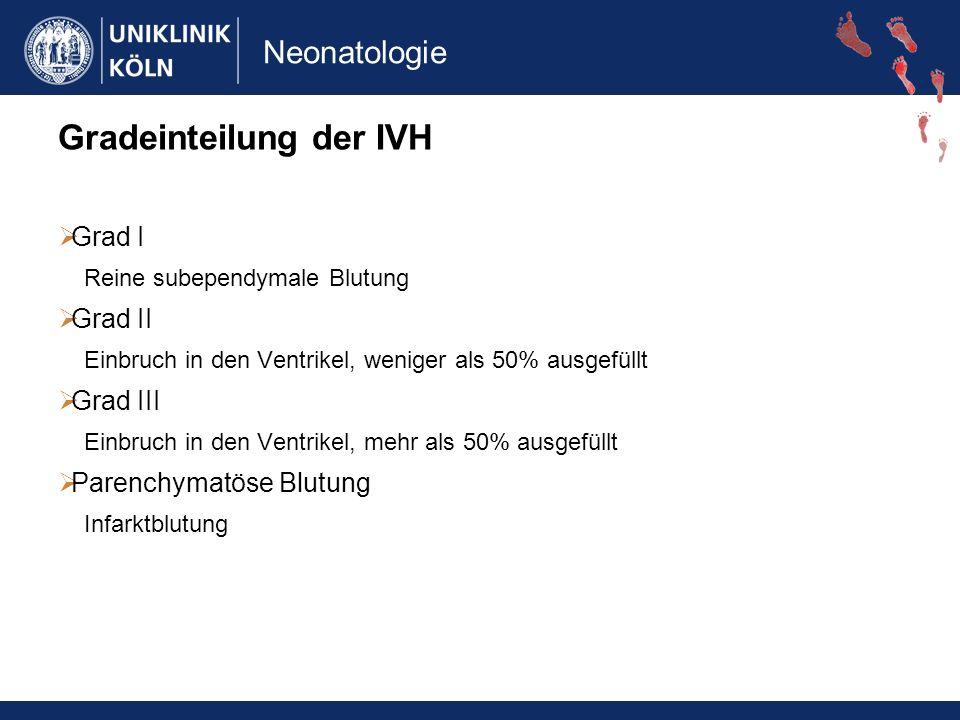 Gradeinteilung der IVH
