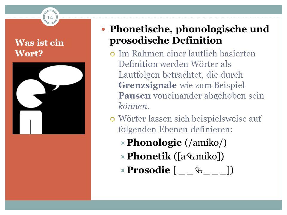 Phonetische, phonologische und prosodische Definition