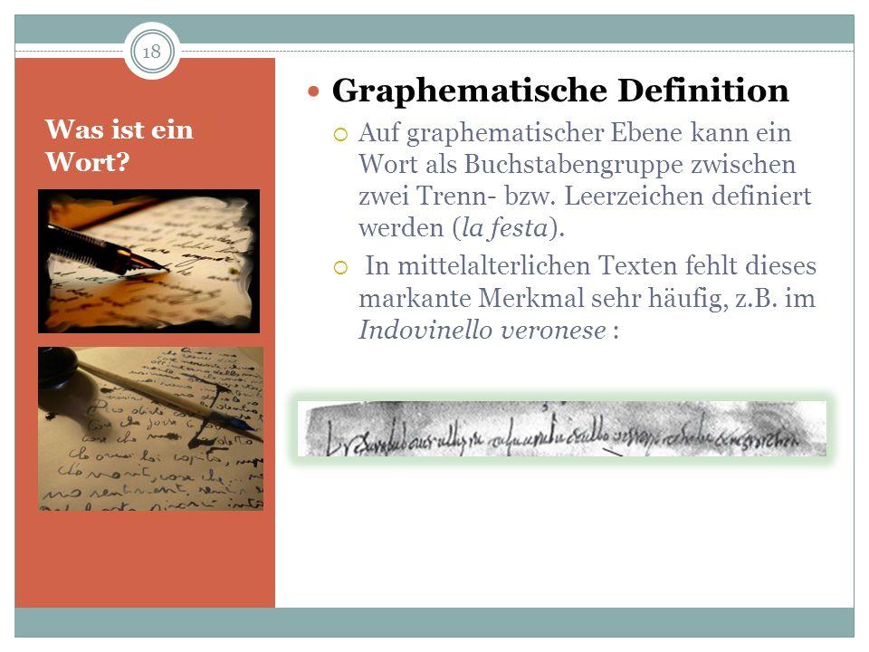 Graphematische Definition