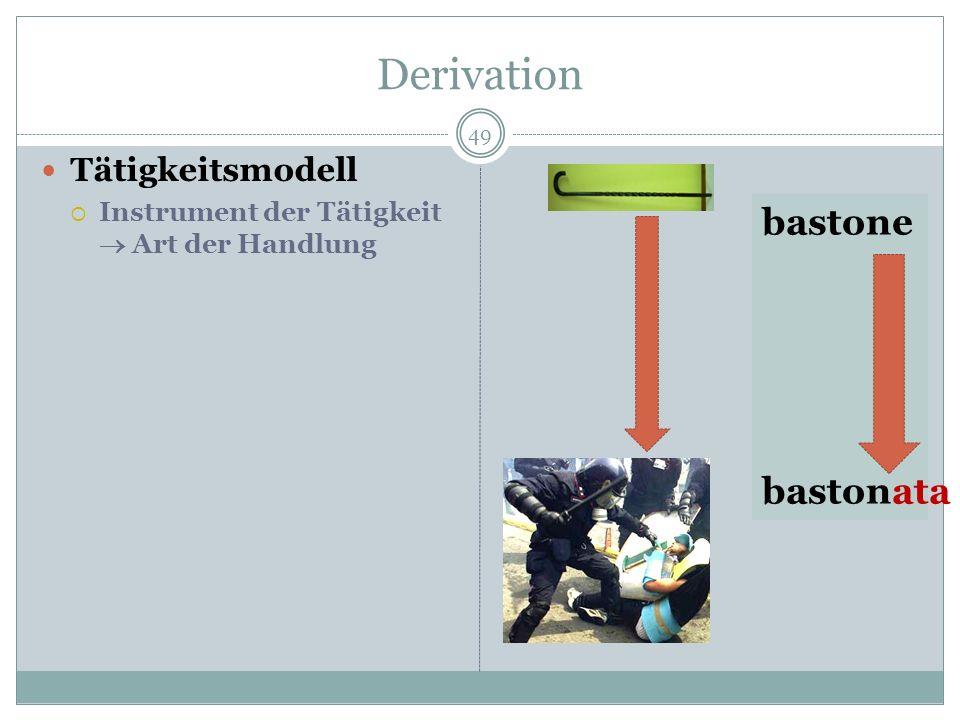 Derivation bastone bastonata Tätigkeitsmodell