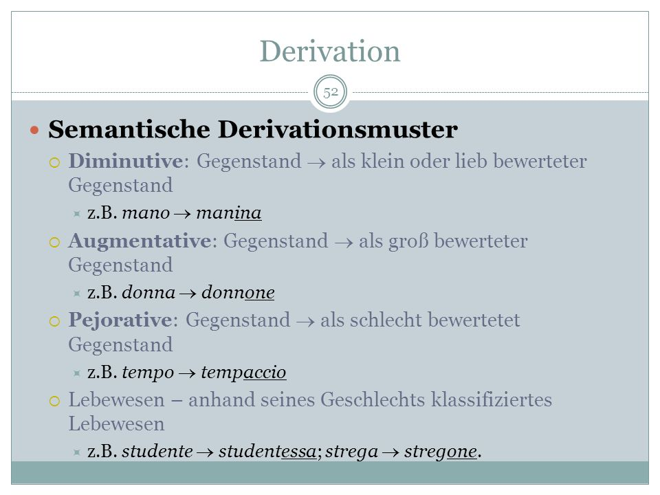 Derivation Semantische Derivationsmuster