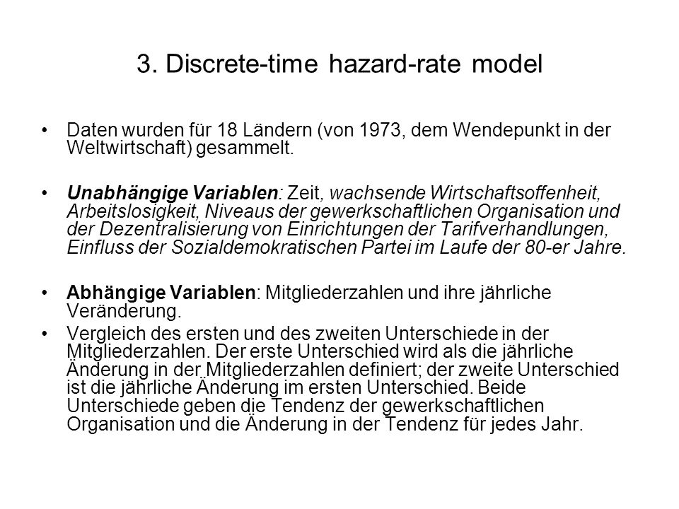 3. Discrete-time hazard-rate model