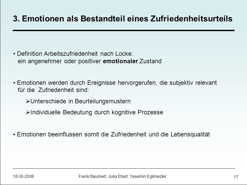 3. Emotionen als Bestandteil eines Zufriedenheitsurteils