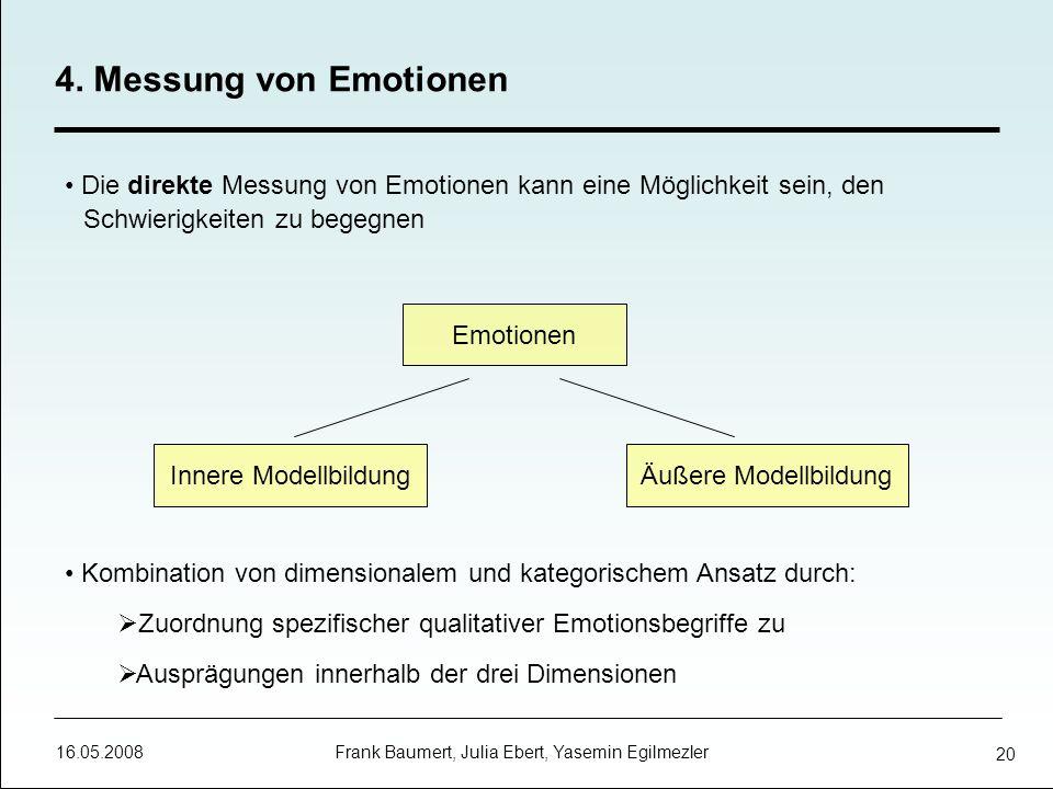 4. Messung von Emotionen Die direkte Messung von Emotionen kann eine Möglichkeit sein, den Schwierigkeiten zu begegnen.