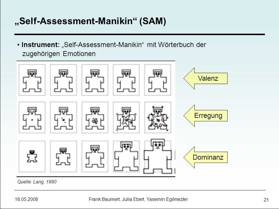 """Self-Assessment-Manikin (SAM)"