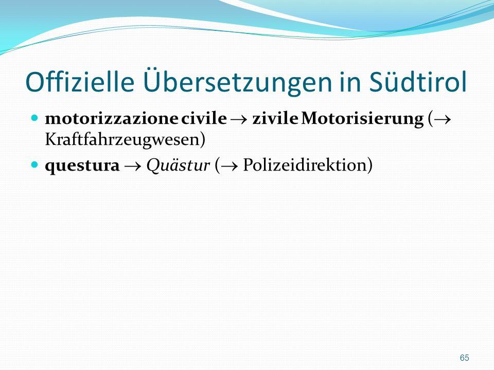 Offizielle Übersetzungen in Südtirol