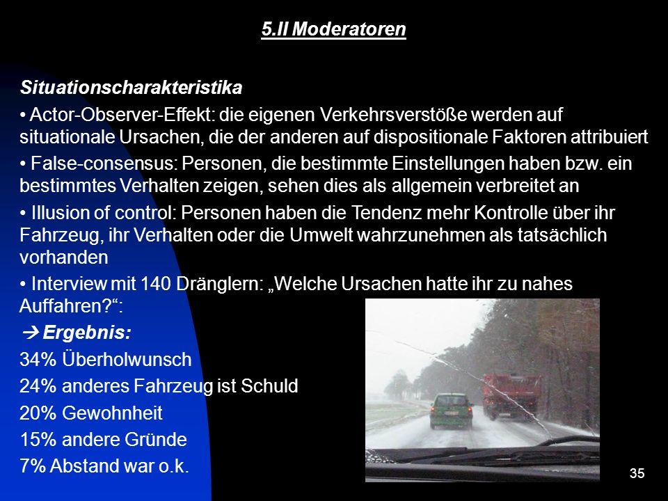 5.II Moderatoren Situationscharakteristika.