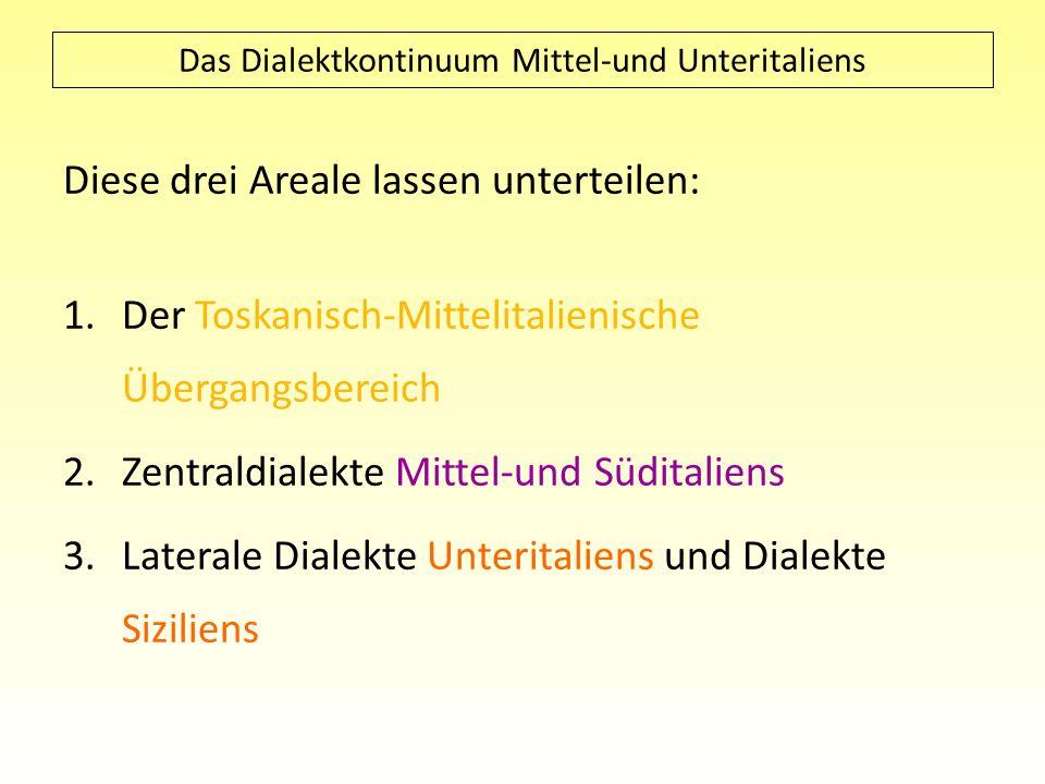 Das Dialektkontinuum Mittel-und Unteritaliens