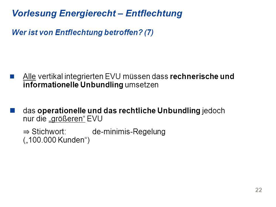 "⇒ Stichwort: de-minimis-Regelung (""100.000 Kunden )"