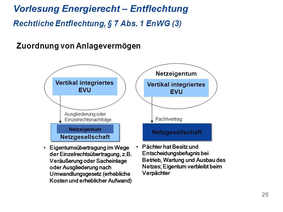 Vertikal integriertes EVU Vertikal integriertes EVU