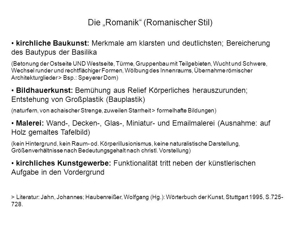 """Die """"Romanik (Romanischer Stil)"""