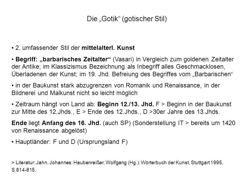 """Die """"Gotik (gotischer Stil)"""