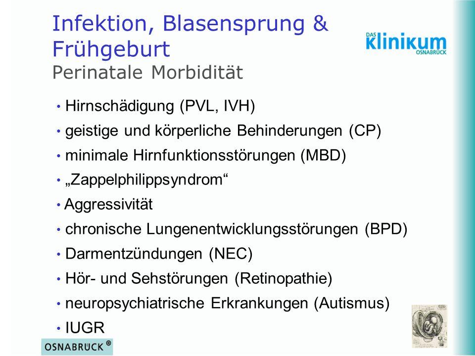Infektion, Blasensprung & Frühgeburt Perinatale Morbidität