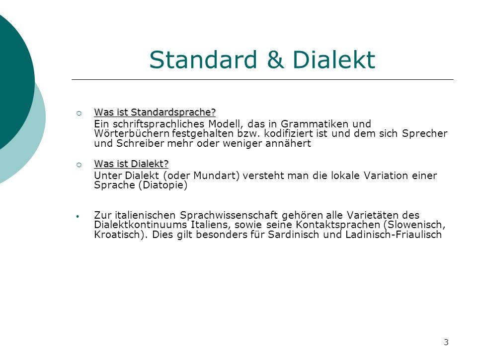 Standard & Dialekt Was ist Standardsprache