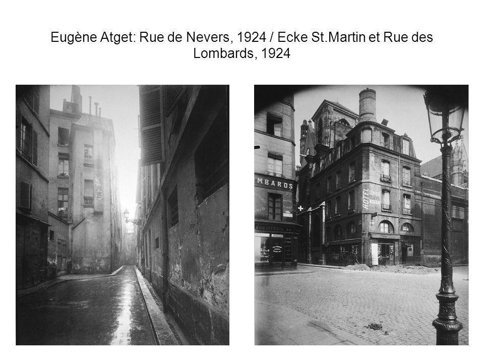 Eugène Atget: Rue de Nevers, 1924 / Ecke St