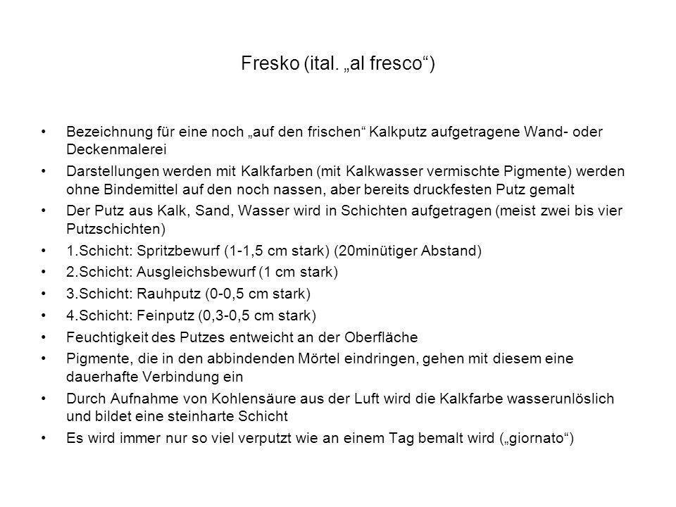 """Fresko (ital. """"al fresco )"""