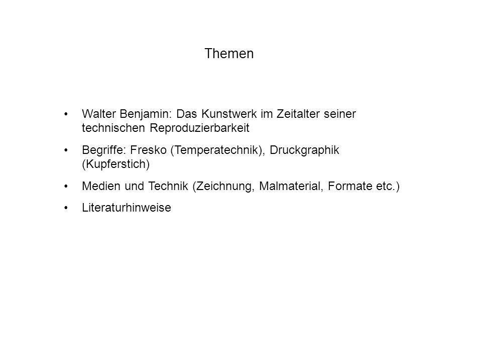 ThemenWalter Benjamin: Das Kunstwerk im Zeitalter seiner technischen Reproduzierbarkeit.