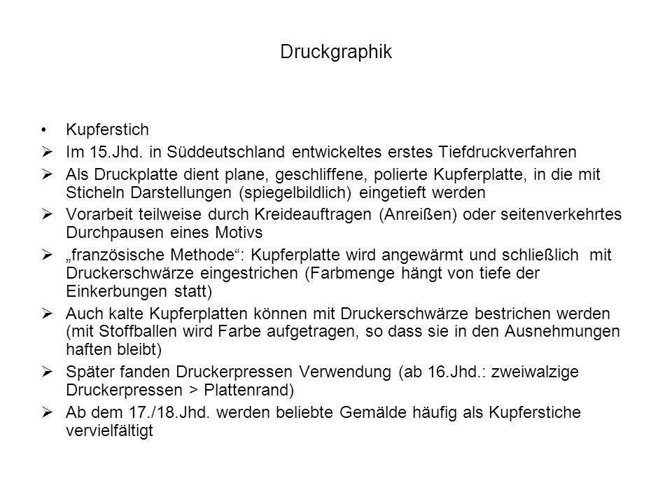 Druckgraphik • Kupferstich