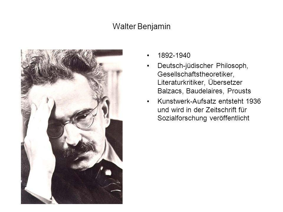 Walter Benjamin 1892-1940. Deutsch-jüdischer Philosoph, Gesellschaftstheoretiker, Literaturkritiker, Übersetzer Balzacs, Baudelaires, Prousts.