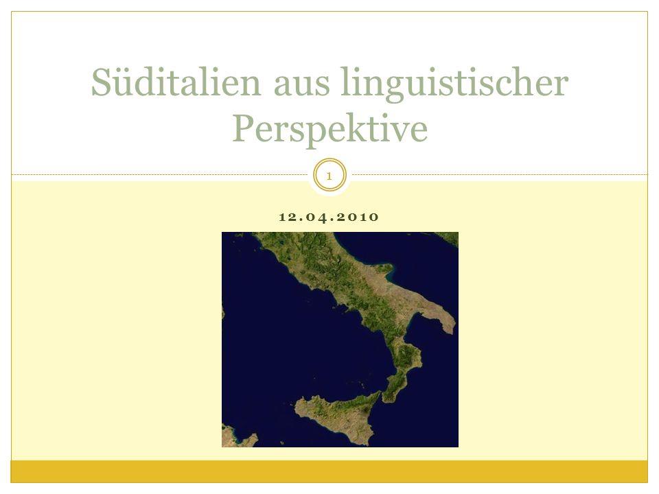 Süditalien aus linguistischer Perspektive