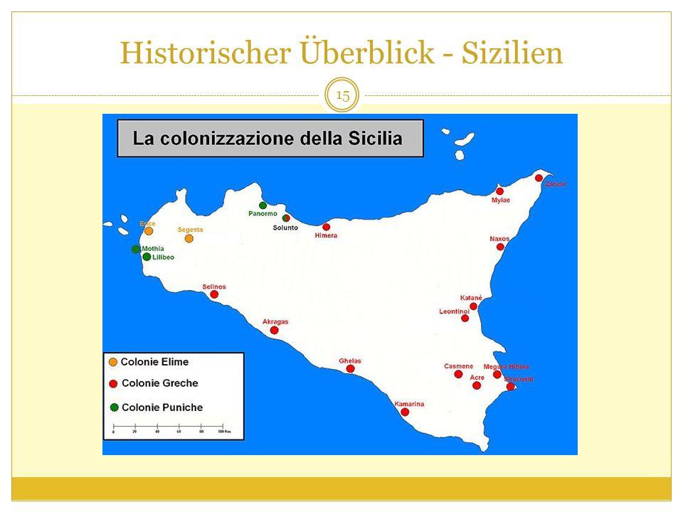 Historischer Überblick - Sizilien