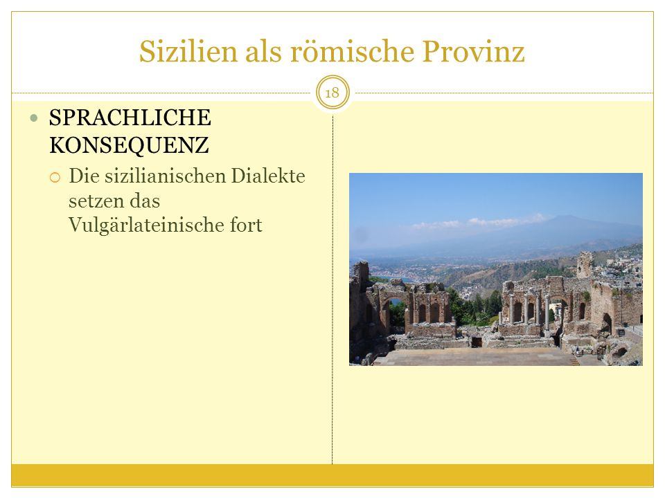 Sizilien als römische Provinz