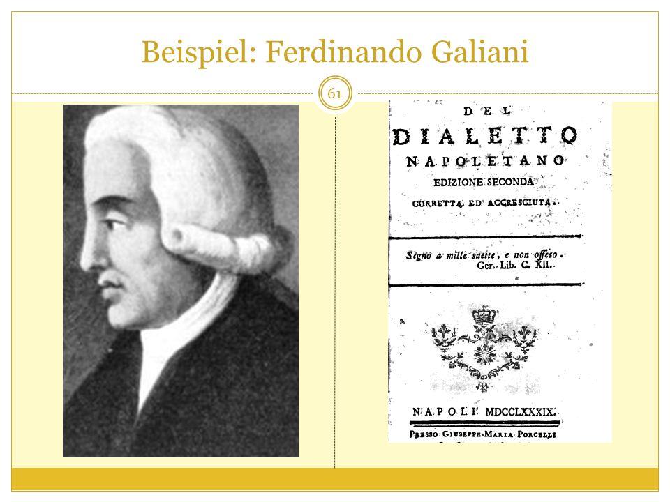 Beispiel: Ferdinando Galiani