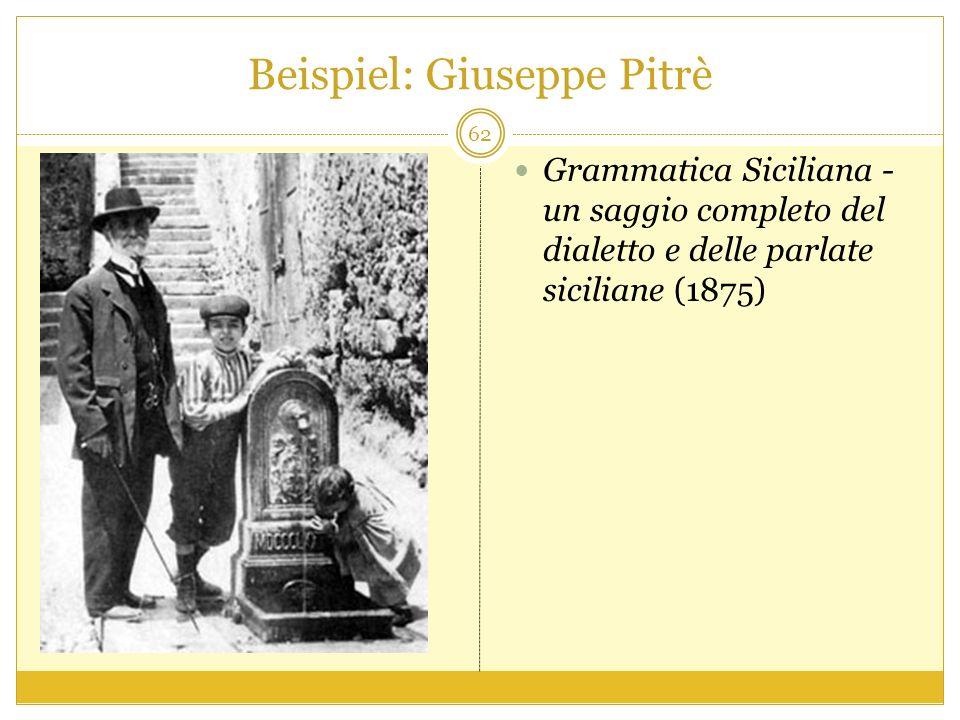 Beispiel: Giuseppe Pitrè