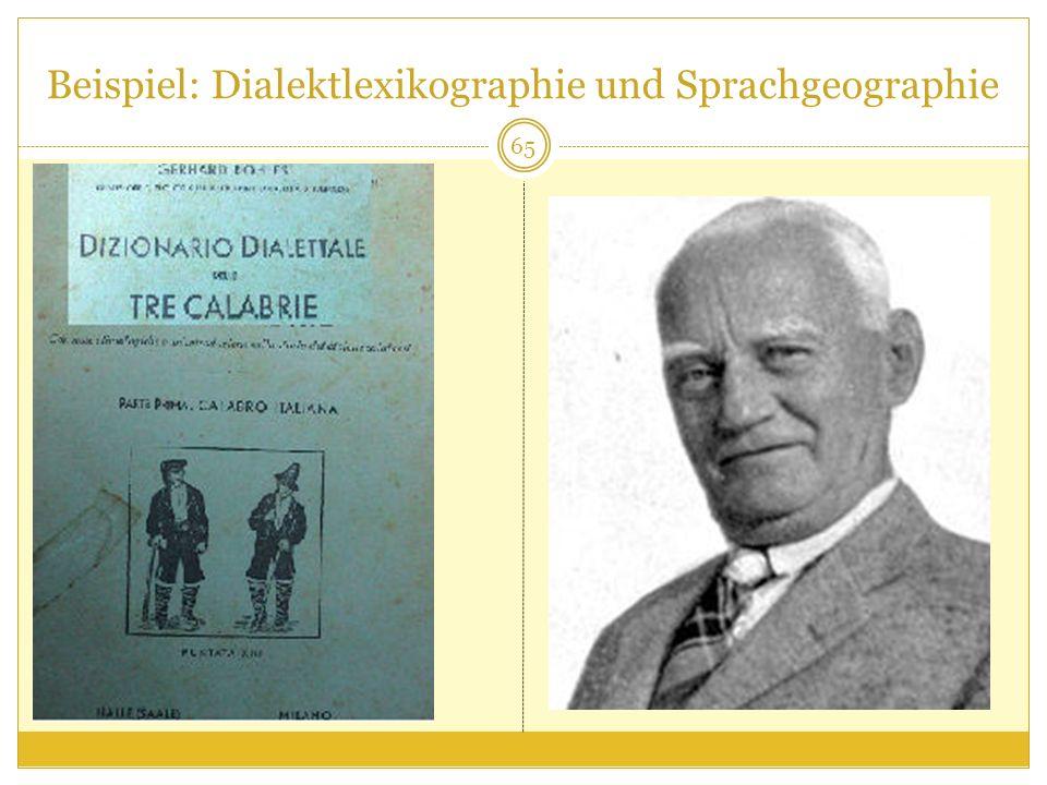 Beispiel: Dialektlexikographie und Sprachgeographie