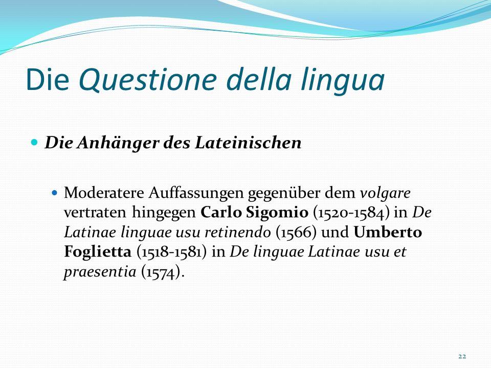 Die Questione della lingua