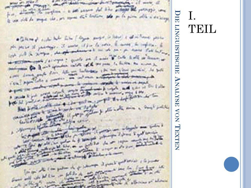 Die linguistische Analyse von Texten