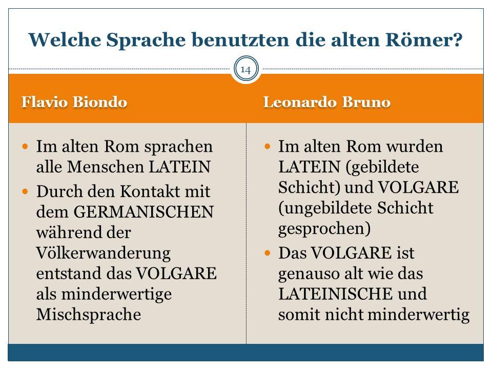 Welche Sprache benutzten die alten Römer