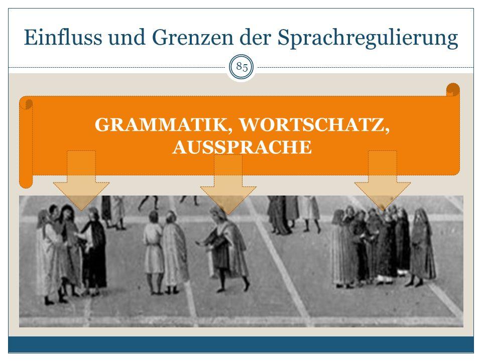 Einfluss und Grenzen der Sprachregulierung