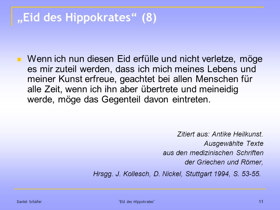 """Eid des Hippokrates (8)"