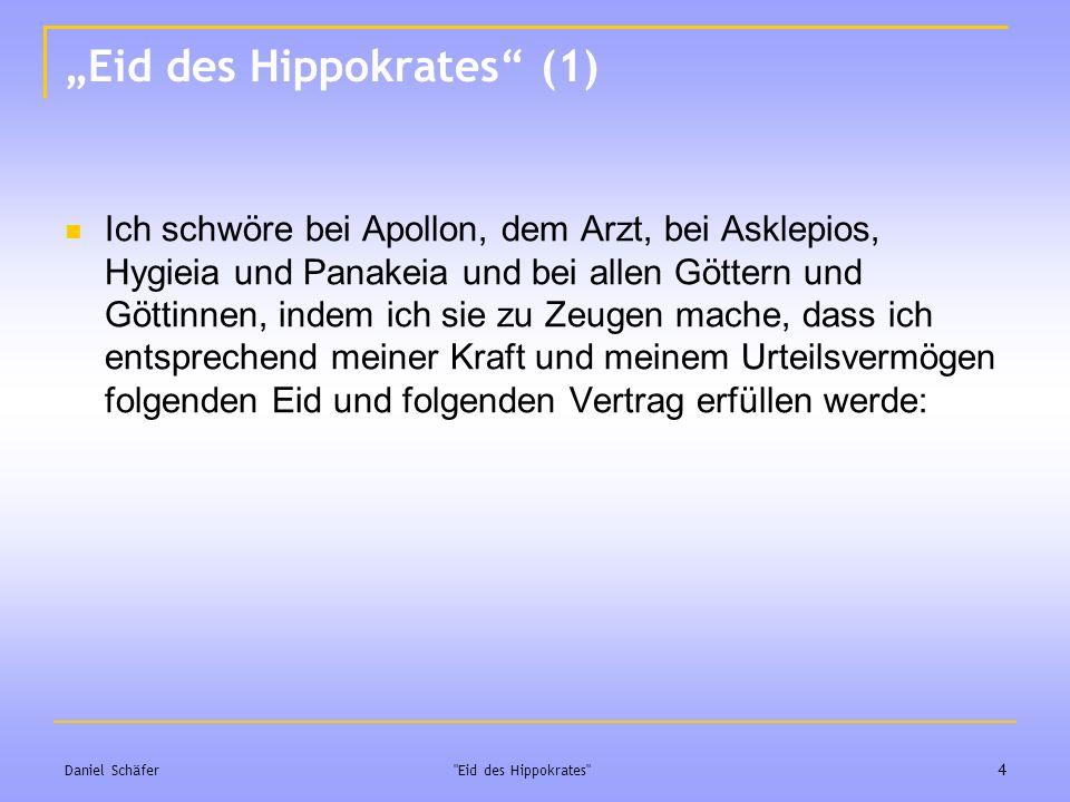 """Eid des Hippokrates (1)"