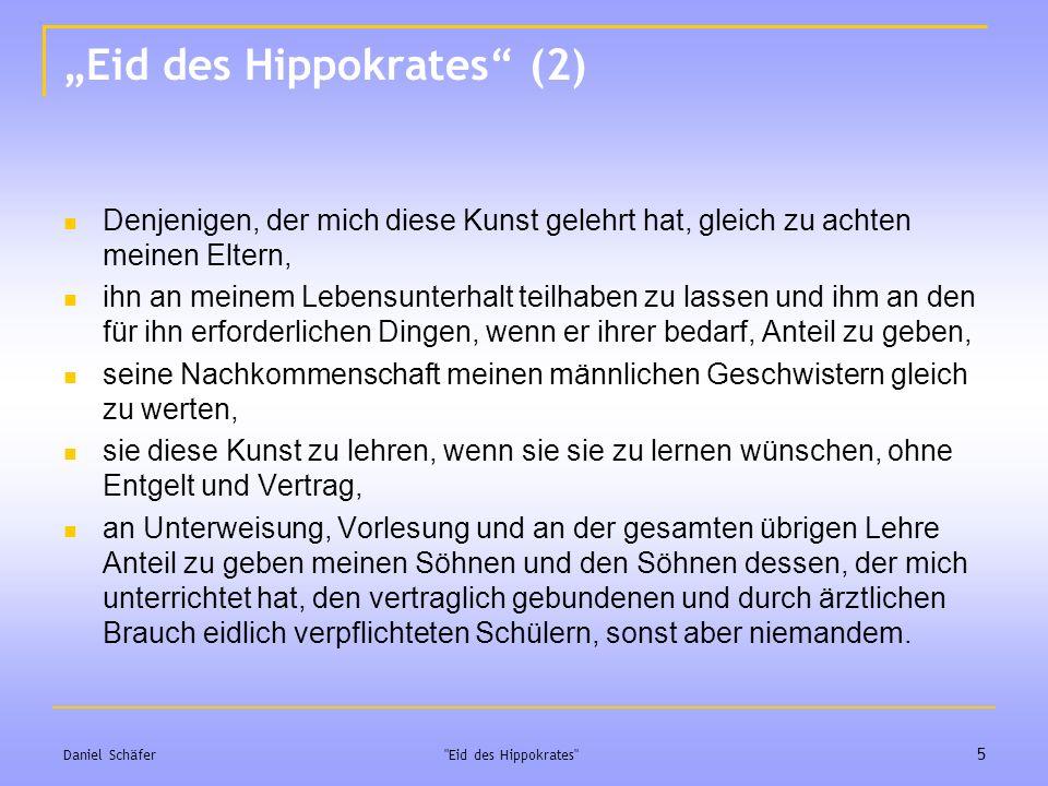 """Eid des Hippokrates (2)"