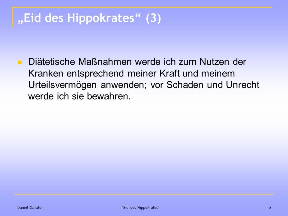 """Eid des Hippokrates (3)"