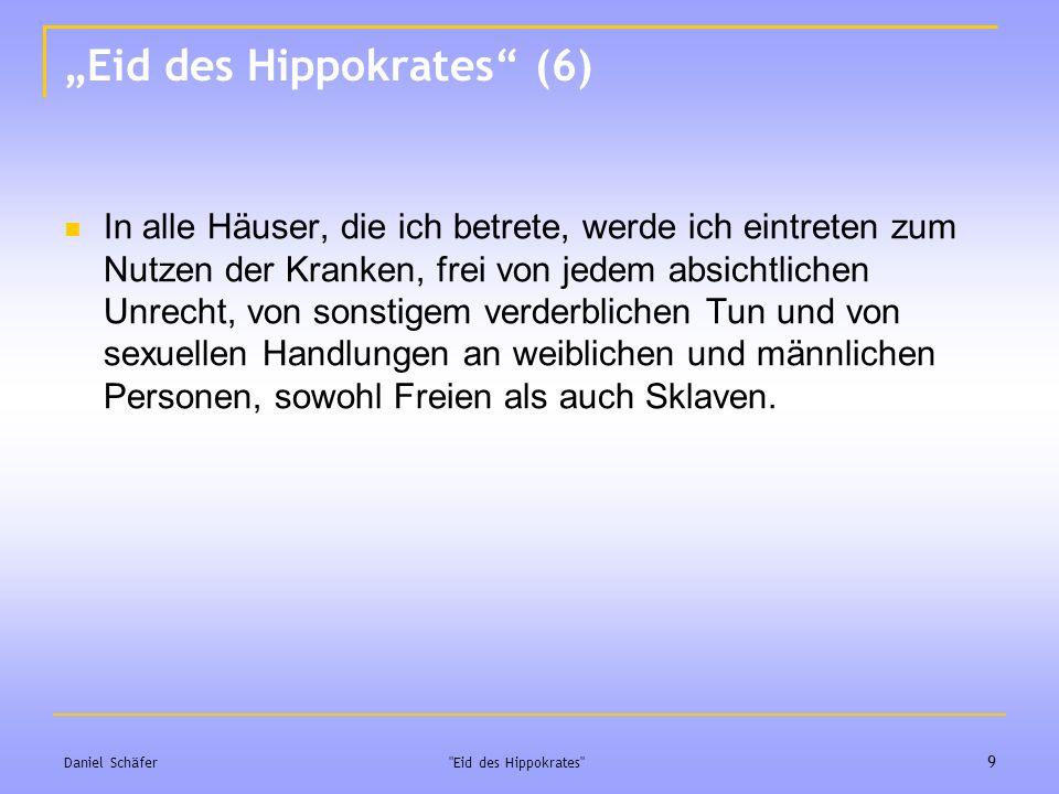 """Eid des Hippokrates (6)"