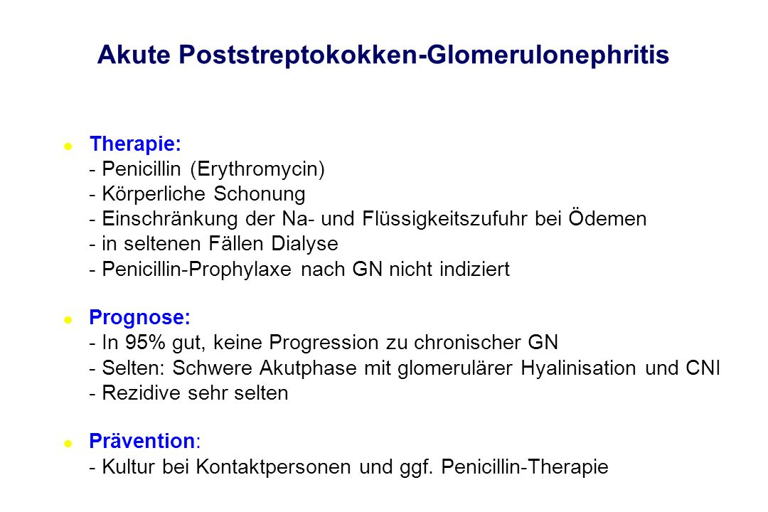Akute Poststreptokokken-Glomerulonephritis