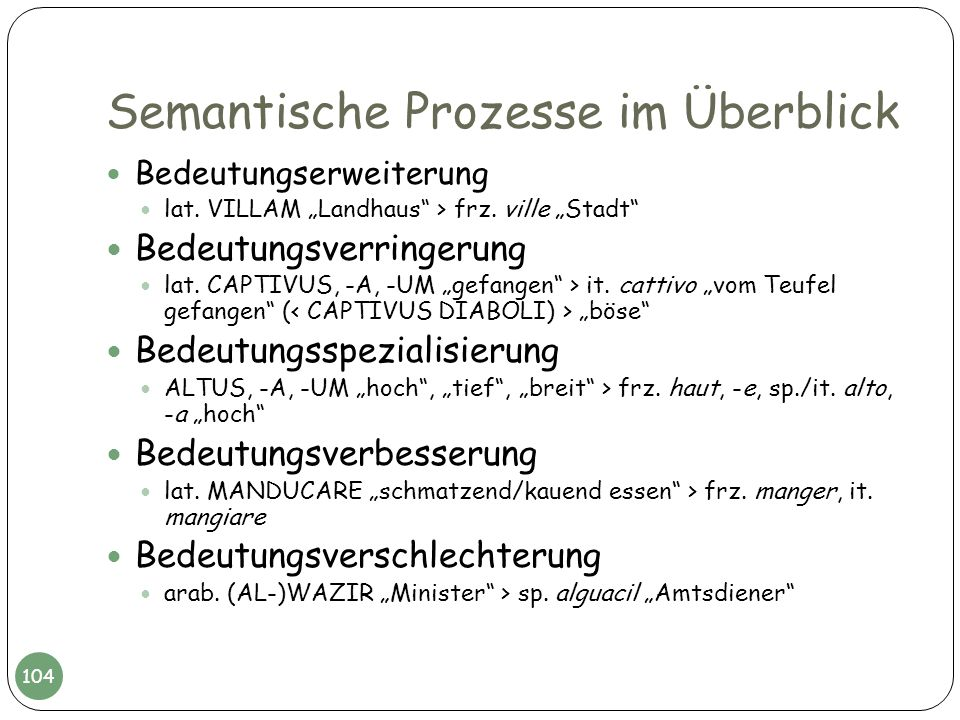 Semantische Prozesse im Überblick