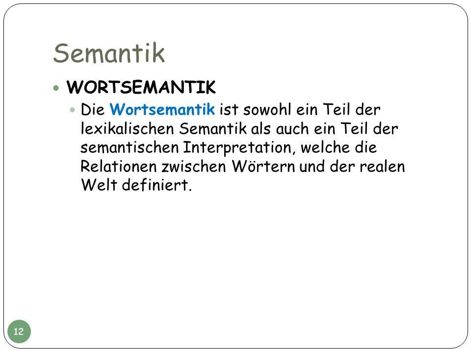 Semantik WORTSEMANTIK