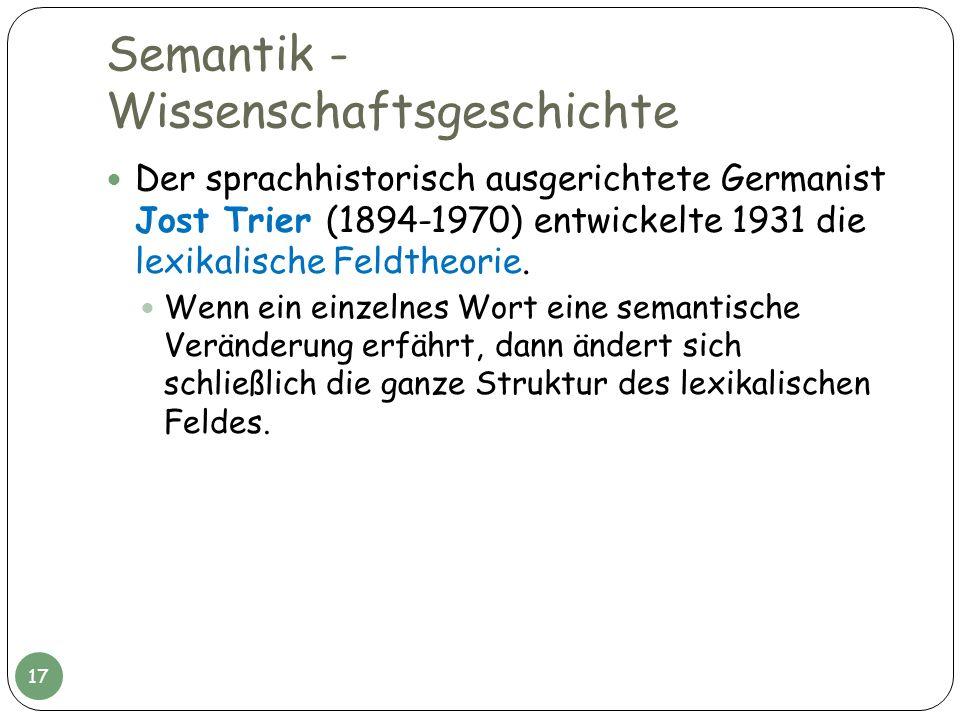 Semantik - Wissenschaftsgeschichte