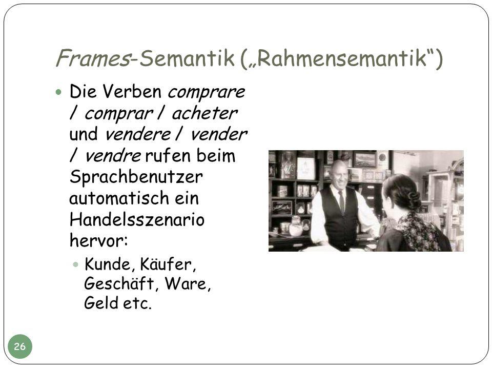 """Frames-Semantik (""""Rahmensemantik )"""