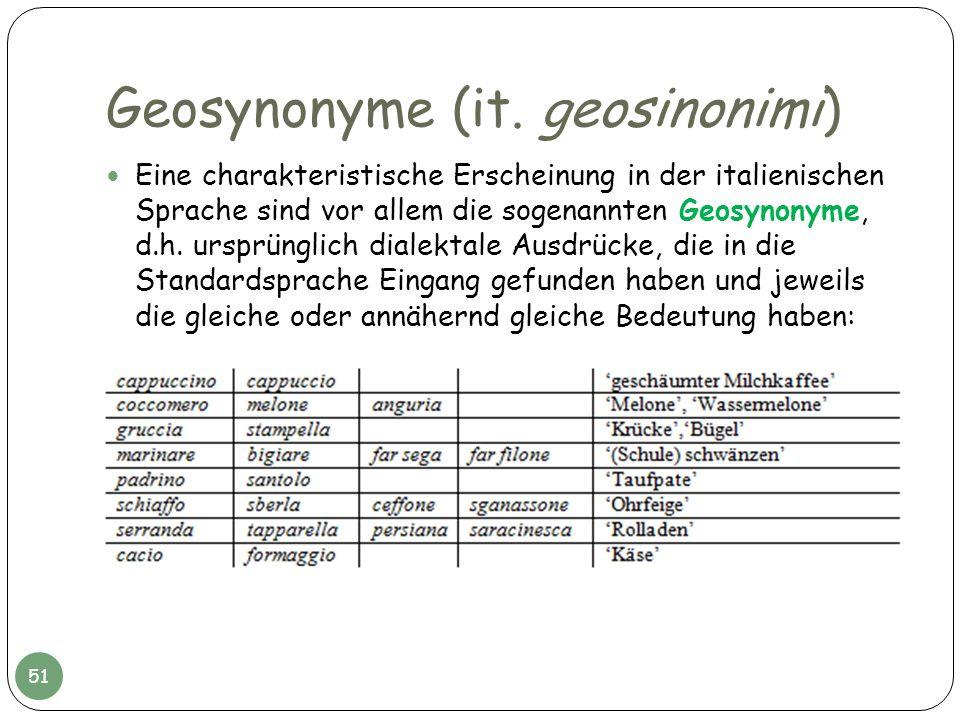 Geosynonyme (it. geosinonimi)