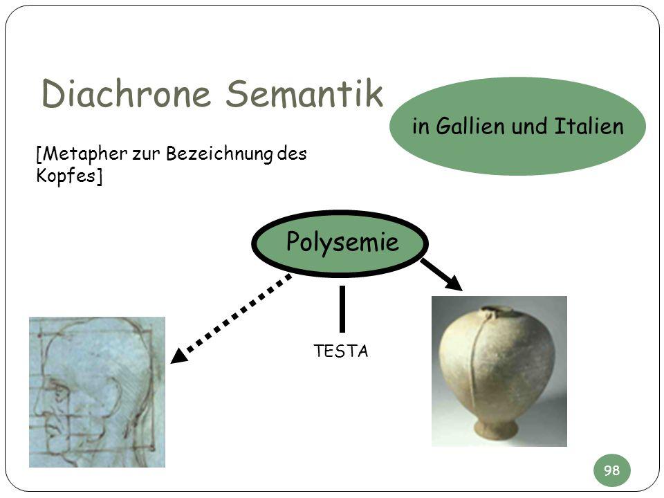 Diachrone Semantik Polysemie in Gallien und Italien