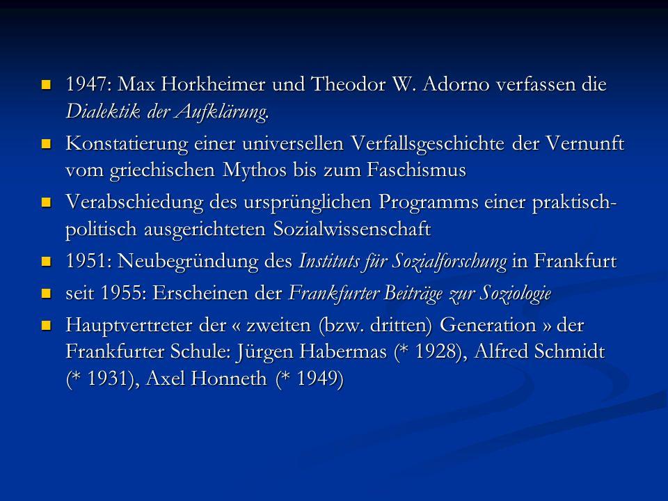 1947: Max Horkheimer und Theodor W