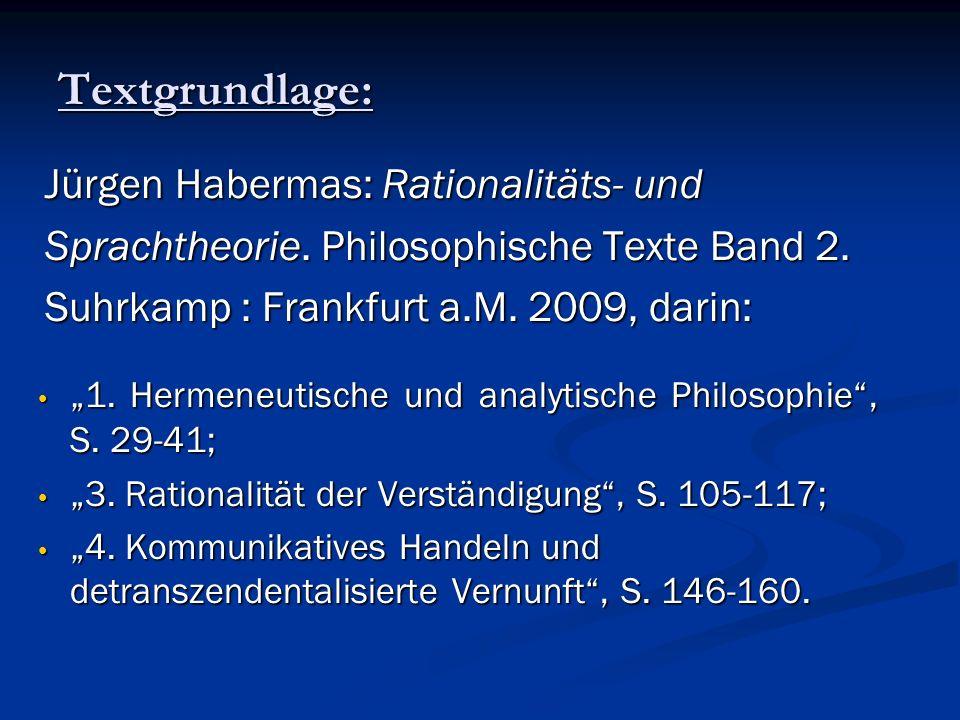 Textgrundlage: Jürgen Habermas: Rationalitäts- und